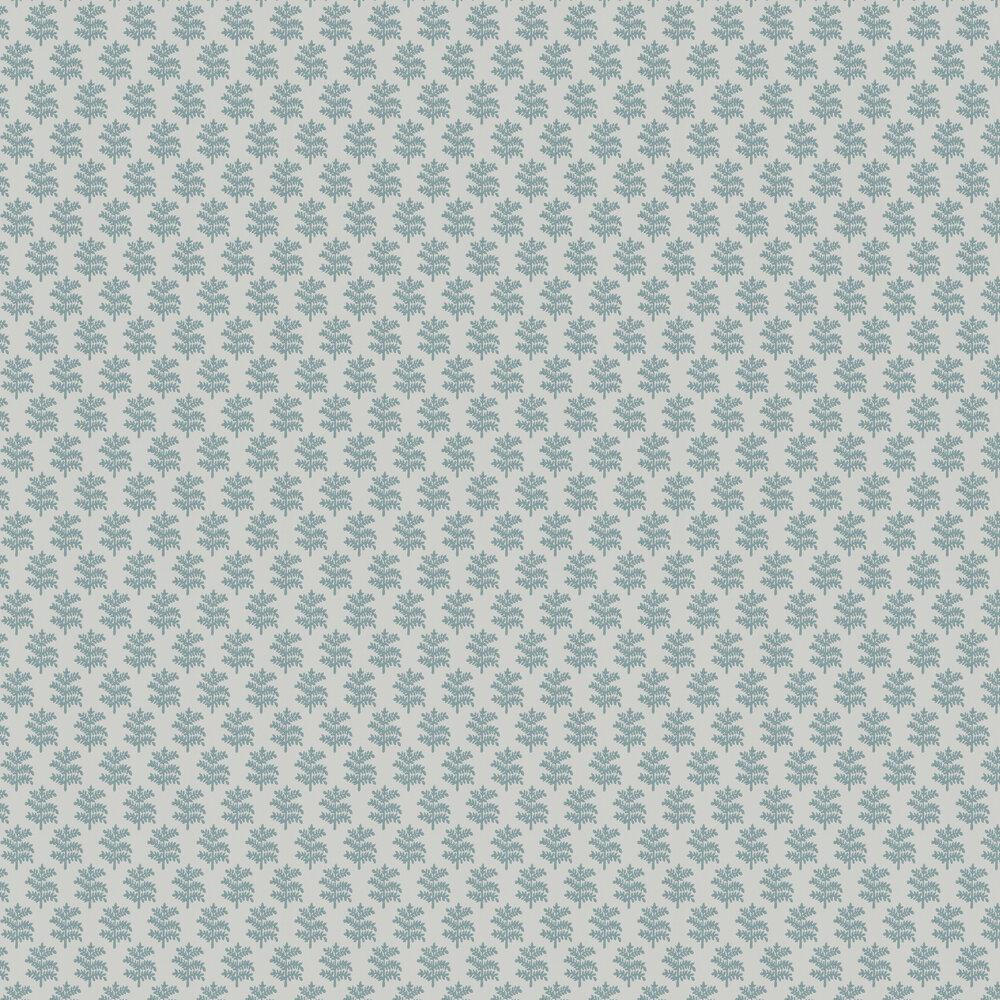 Rowan Wallpaper - Soft Blue - by Jane Churchill
