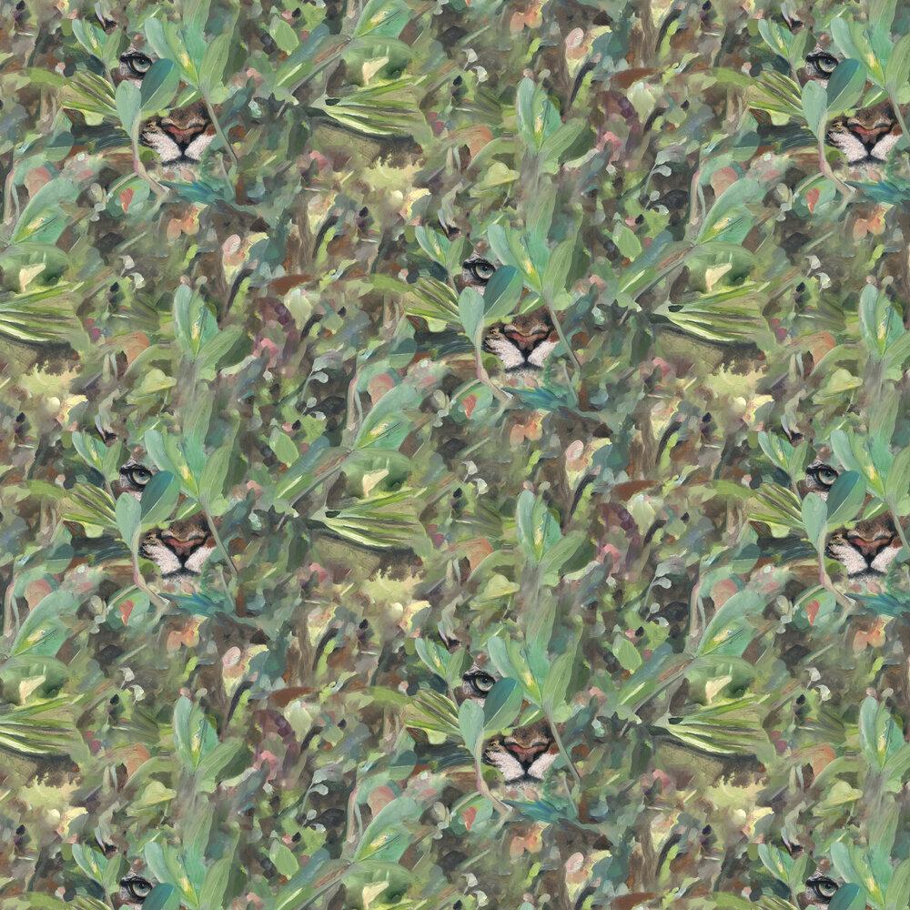 Hidden Puma Wallpaper - Spring - by Coordonne