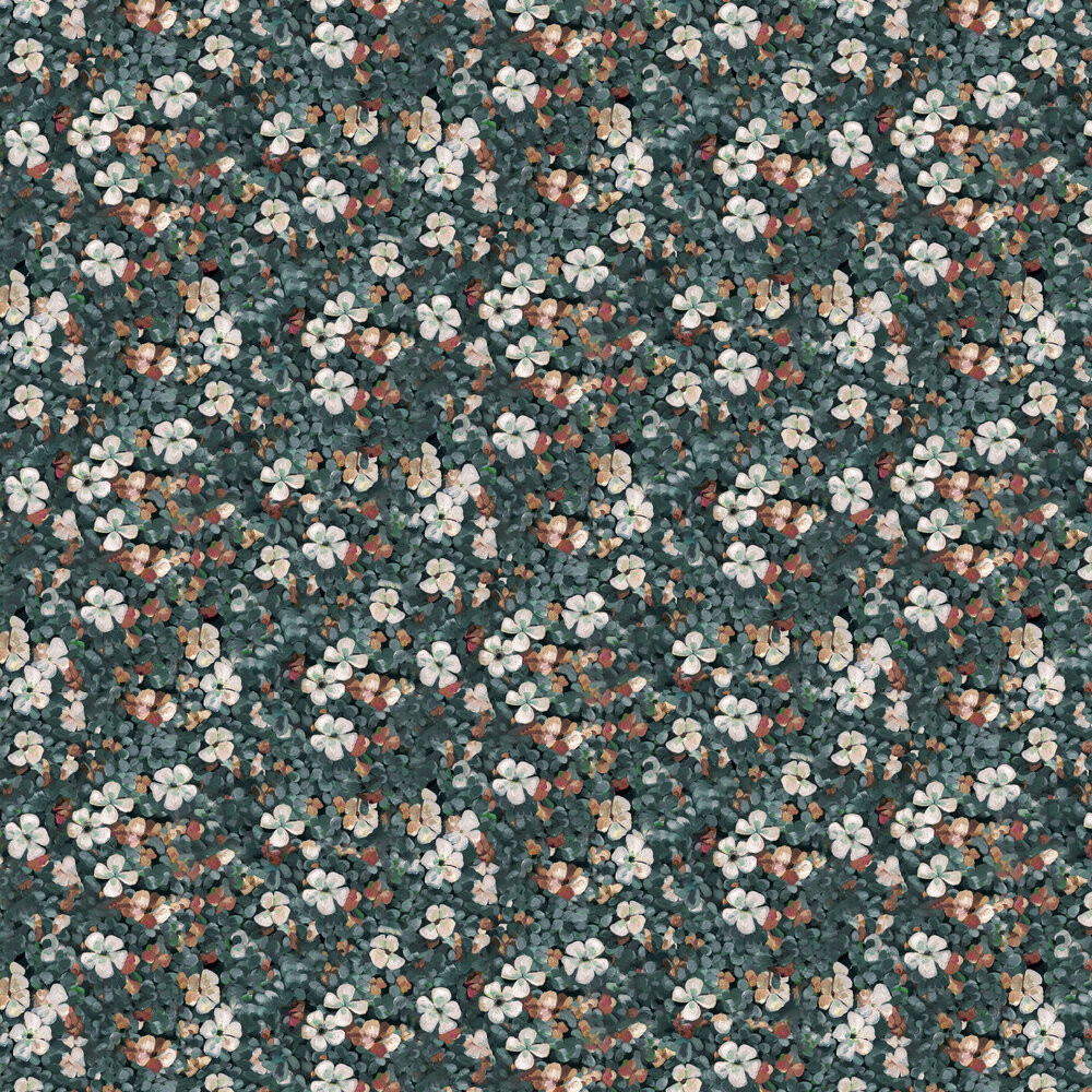 Floral Tapestry Wallpaper - Sea - by Coordonne