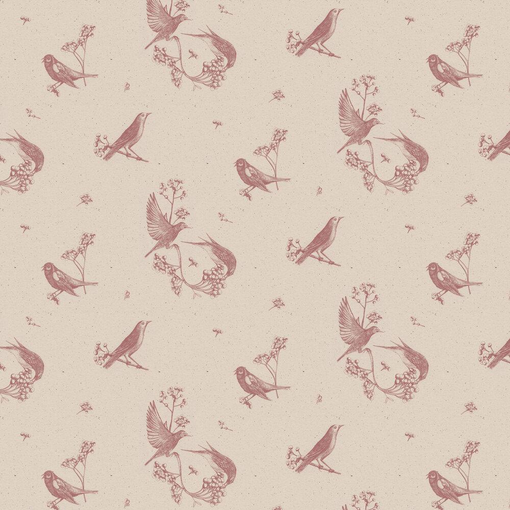 Sweet Birds Wallpaper - Rose - by Coordonne