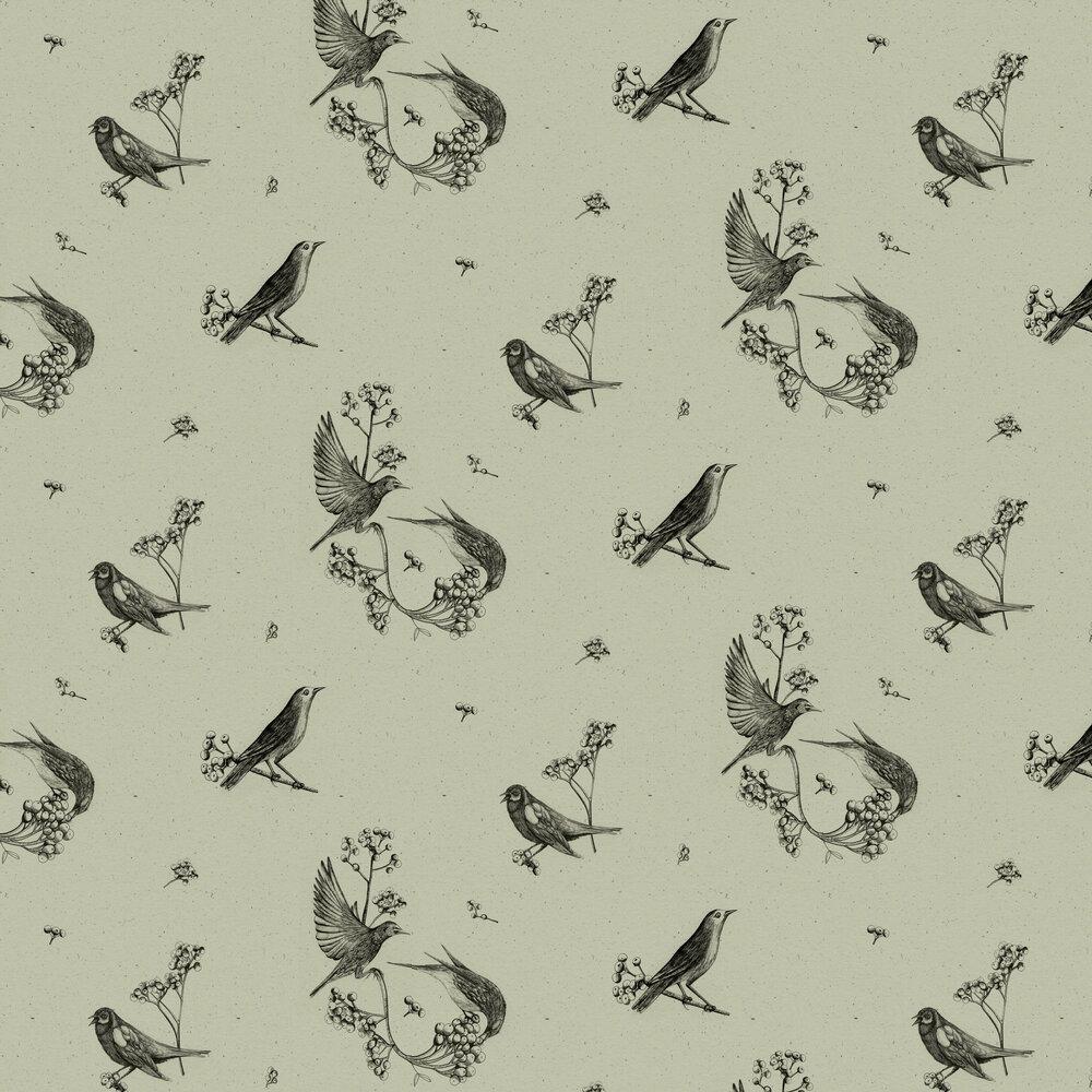 Sweet Birds Wallpaper - Matcha - by Coordonne