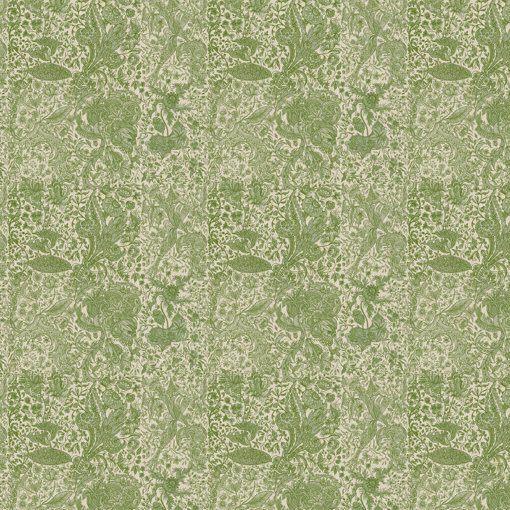 Sarkozi Embroidery Wallpaper - Herbal - by Mind the Gap