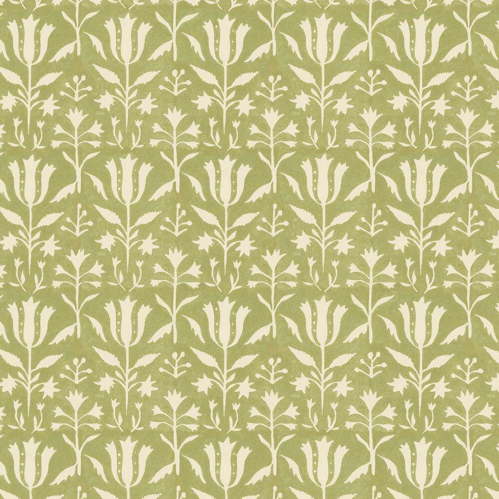 Tulipan Wallpaper - Beechnut - by Mind the Gap