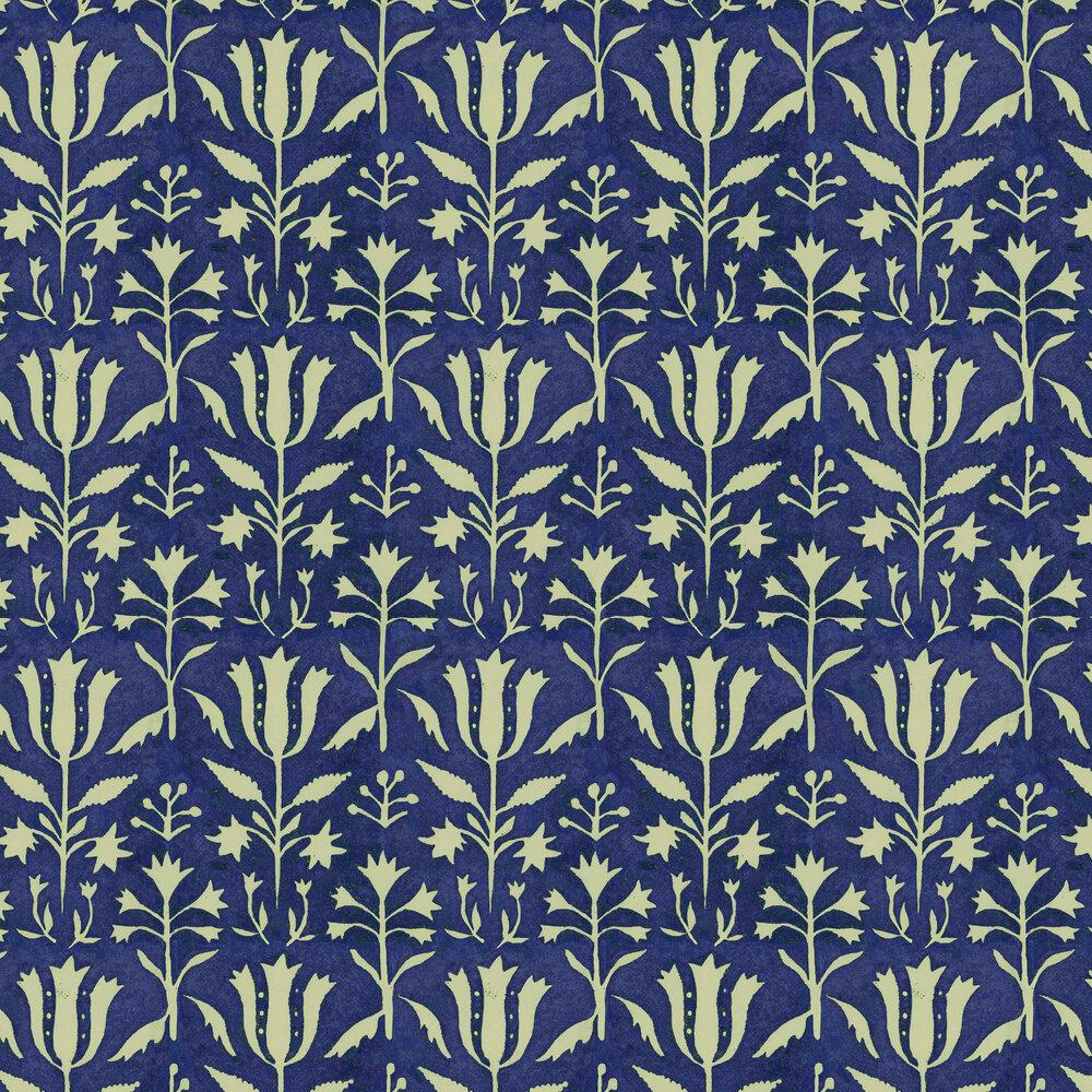 Tulipan Wallpaper - Indigo - by Mind the Gap