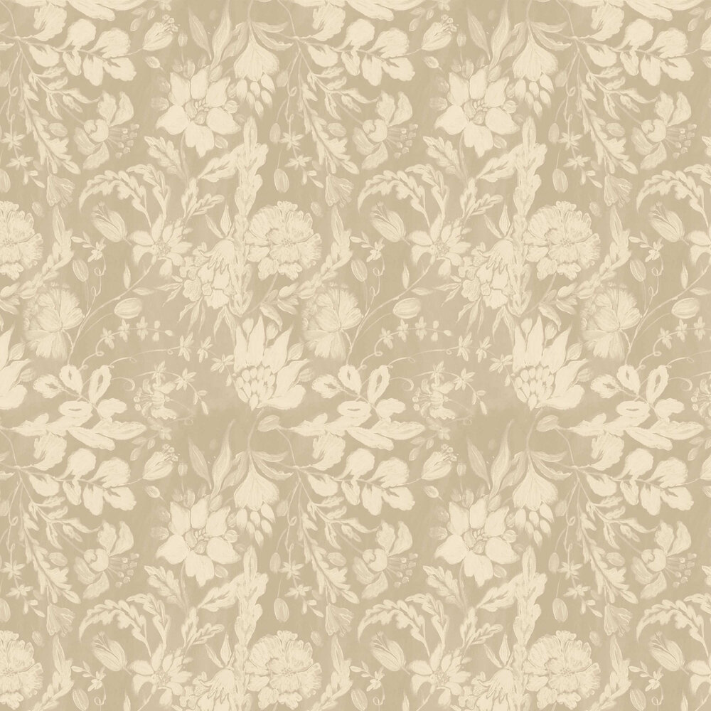 Flowery Ornament Wallpaper - Taupe - by Mind the Gap