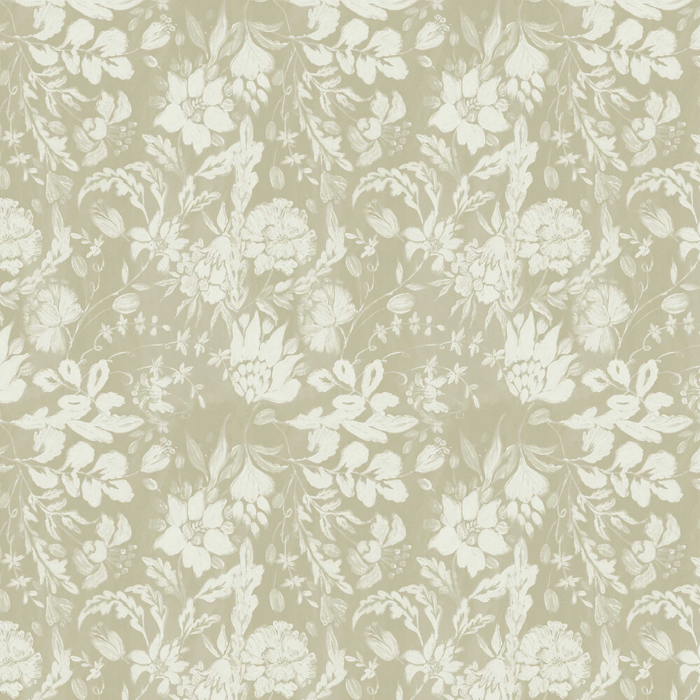 Flowery Ornament Wallpaper - Seedpearl - by Mind the Gap