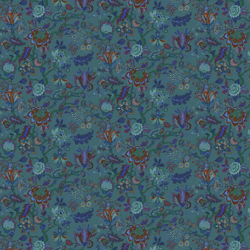 Eden Wallpaper - Blue - by Wear The Walls