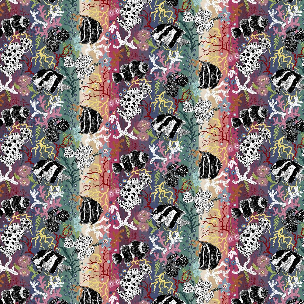 Neptune Wallpaper - Rainbow - by Wear The Walls