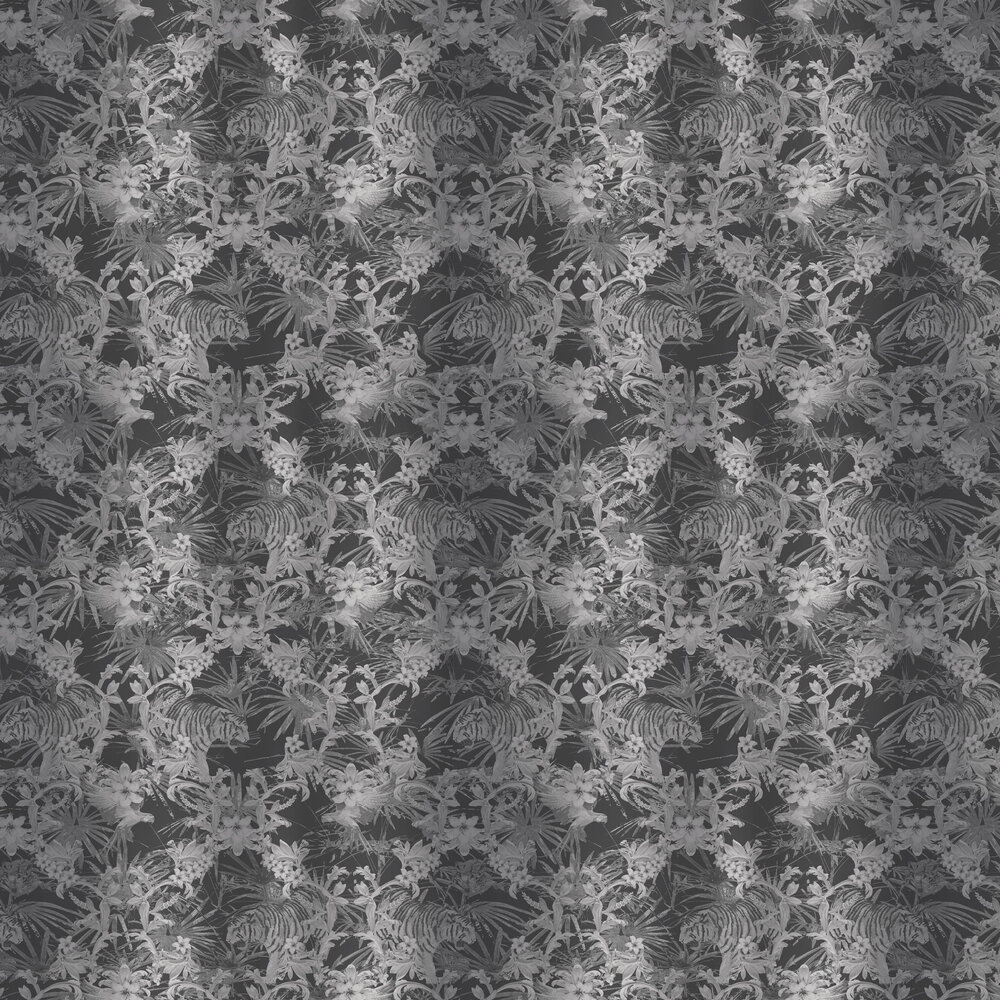 Kingdom Wallpaper - Charcoal - by Ted Baker