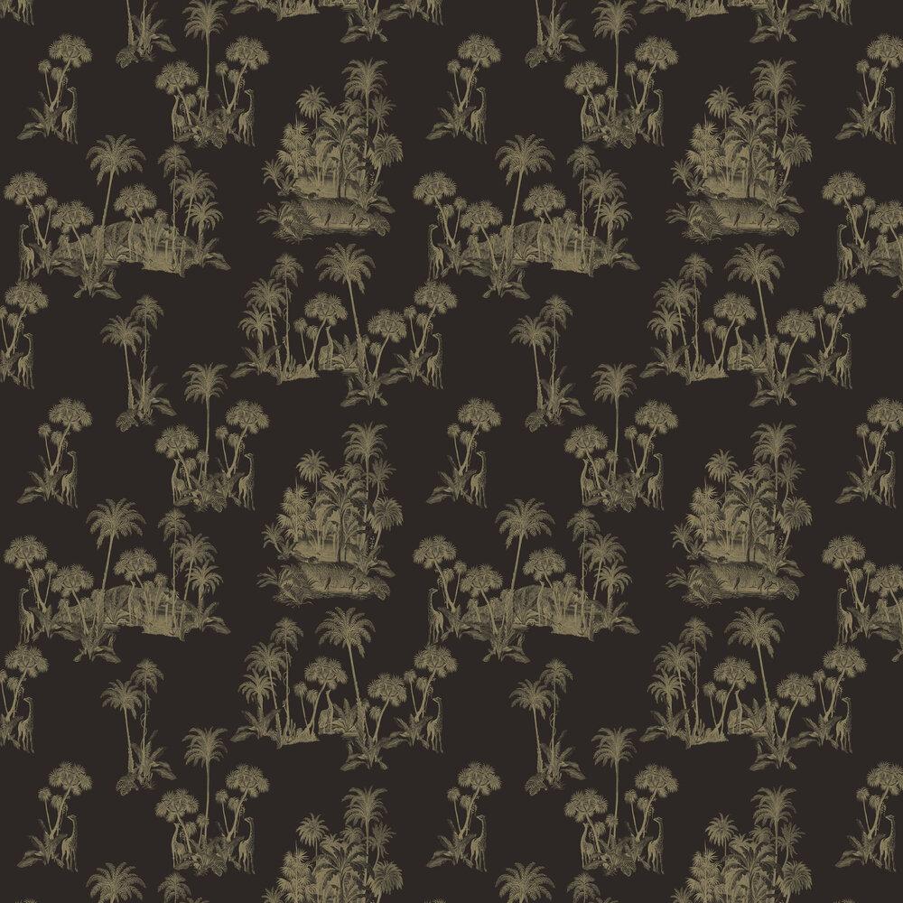 Laurel Wallpaper - Black / Gold - by Ted Baker