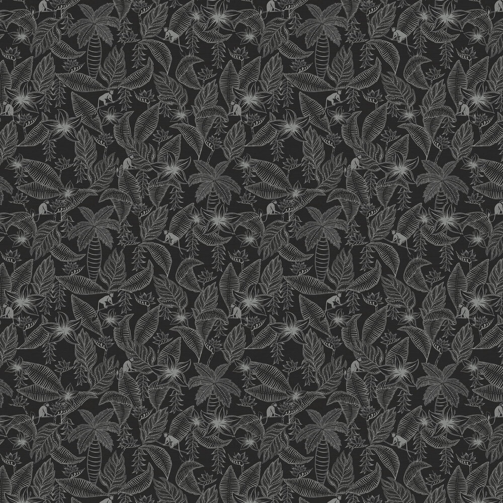 Monflo Wallpaper - Charcoal - by Ted Baker