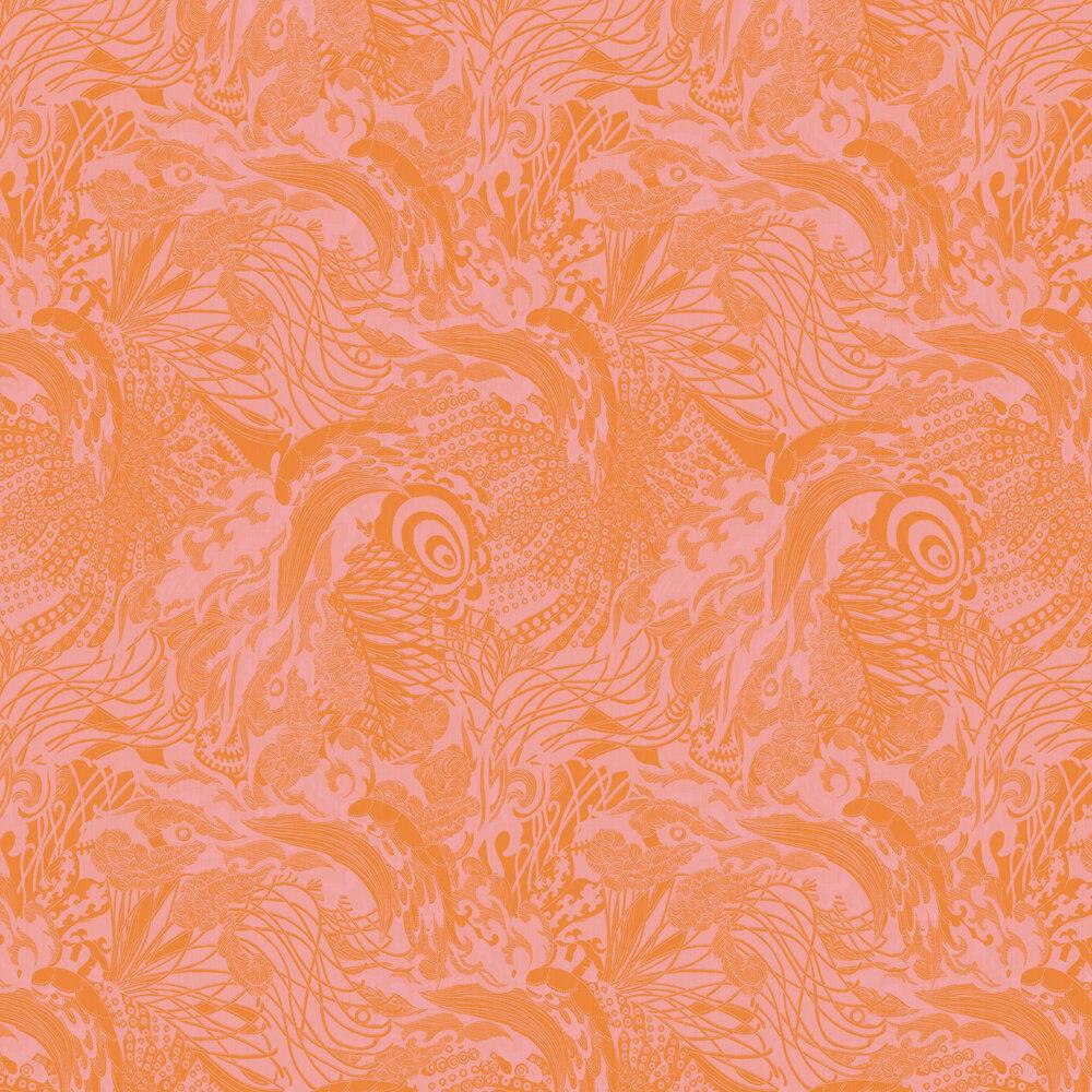 Eastern Tide Wallpaper - Orange - by Ted Baker