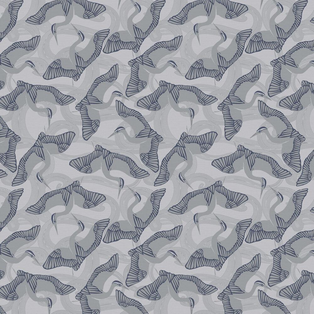 Cranes Wallpaper - Slate - by Ted Baker