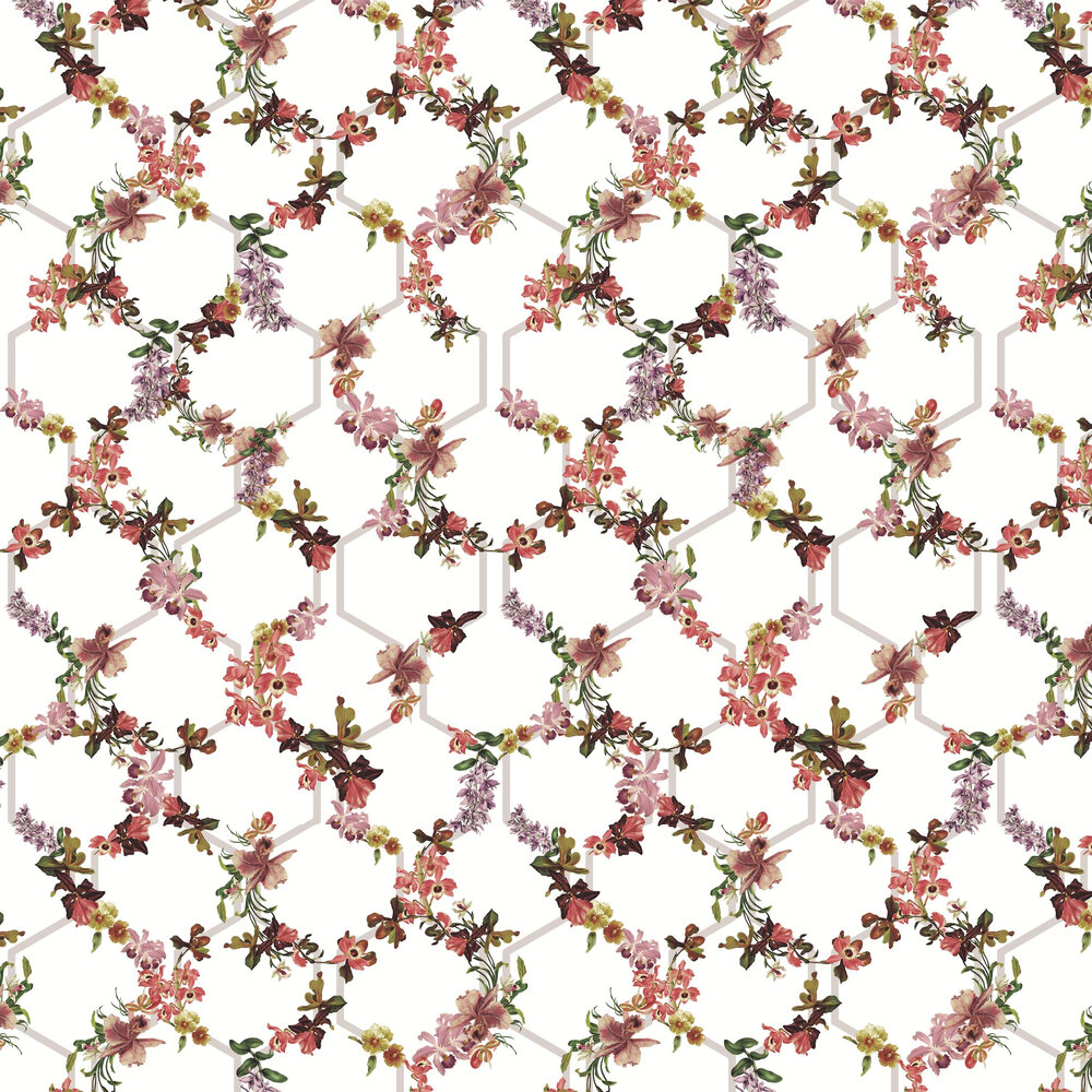 Lost Garden Trelise Wallpaper - White - by Ted Baker