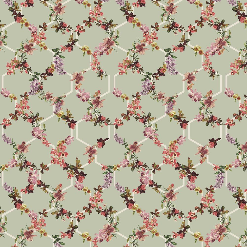 Lost Garden Trelise Wallpaper - Sage - by Ted Baker