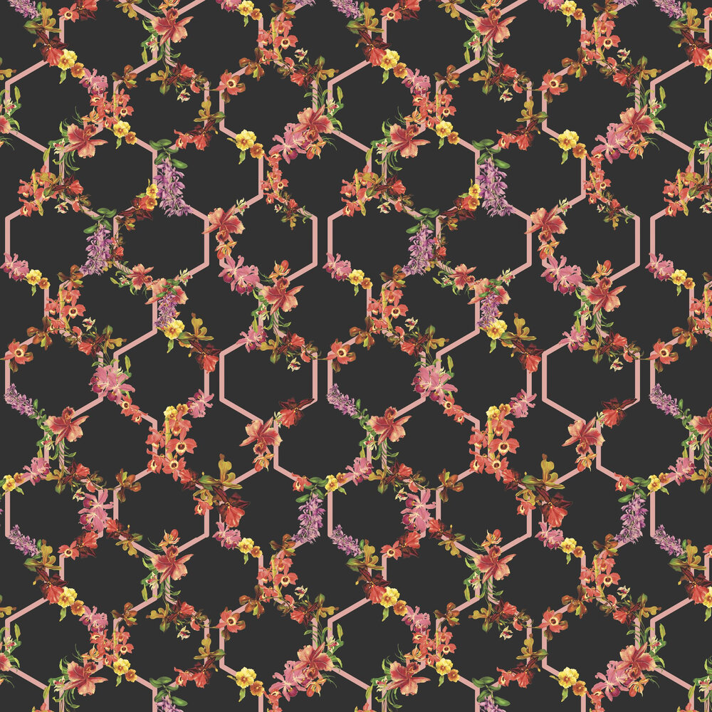 Lost Garden Trelise Wallpaper - Black - by Ted Baker