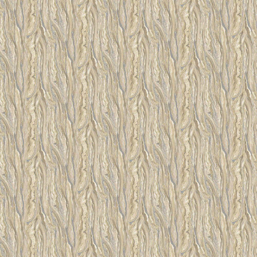 Marble Wallpaper - Gold/ Silver/ Cream - by Galerie