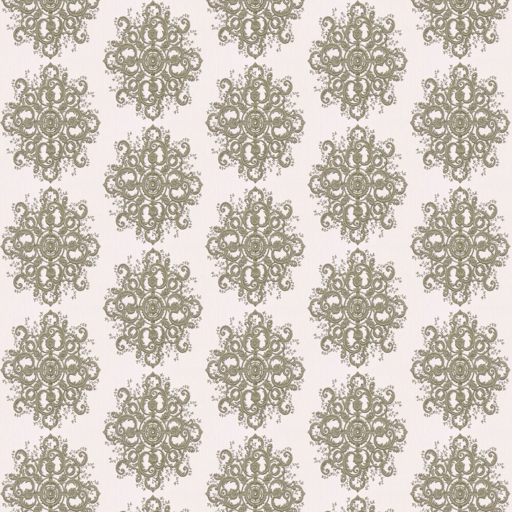 Baroque Damask Wallpaper - Gold/ Cream - by Galerie