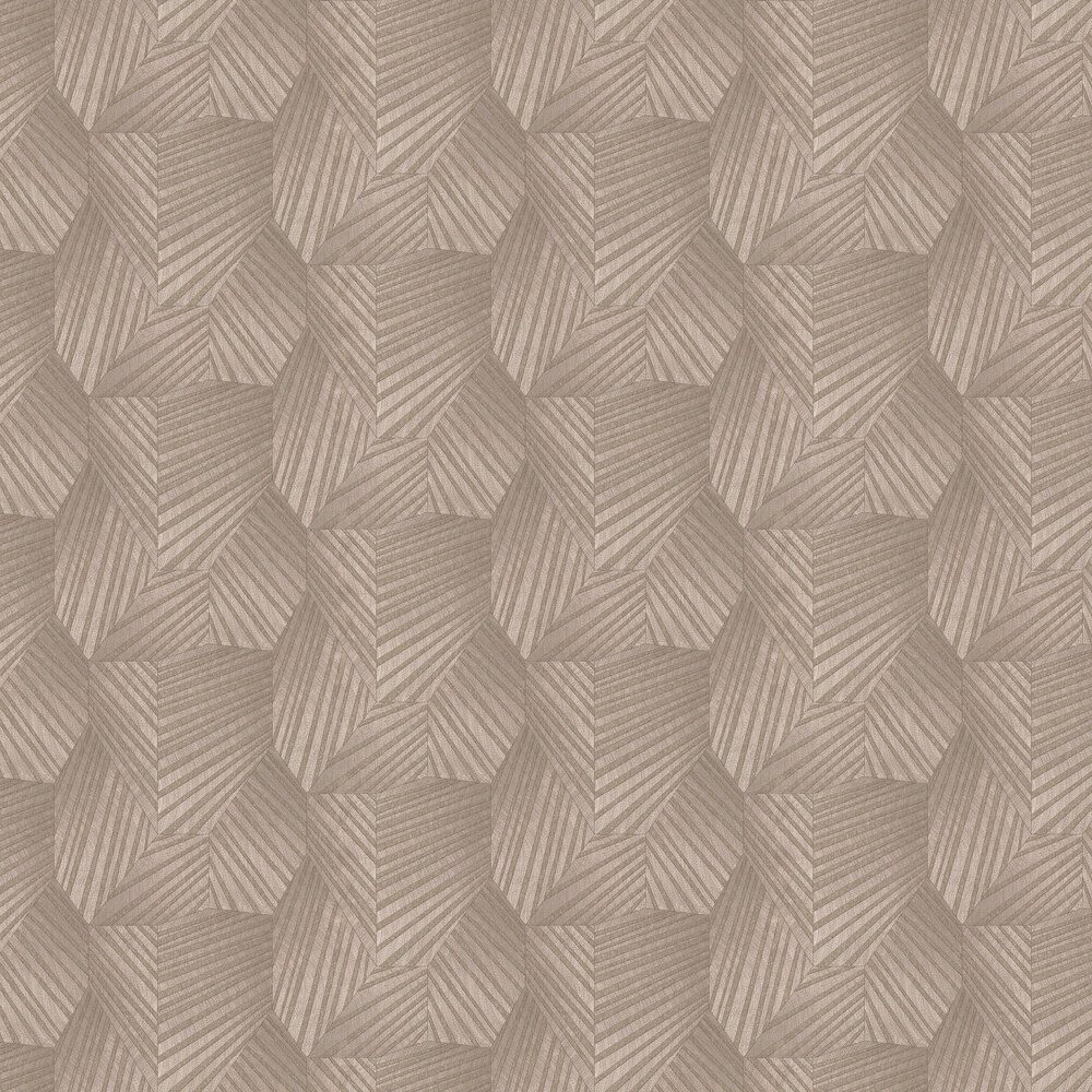 Geometric D Triangle Wallpaper - Blush Pink/ Gold - by Galerie