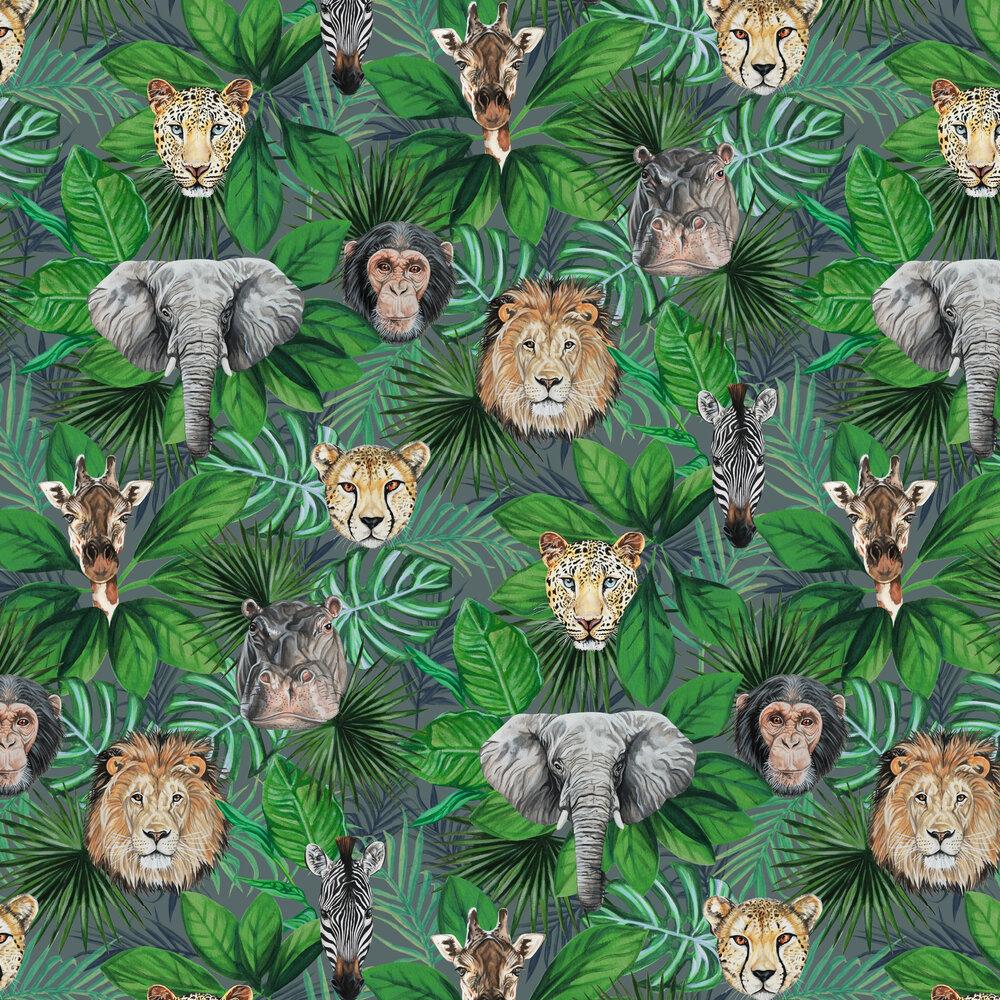 Geoffrey & Friends Wallpaper - Jungle Green - by Graduate Collection