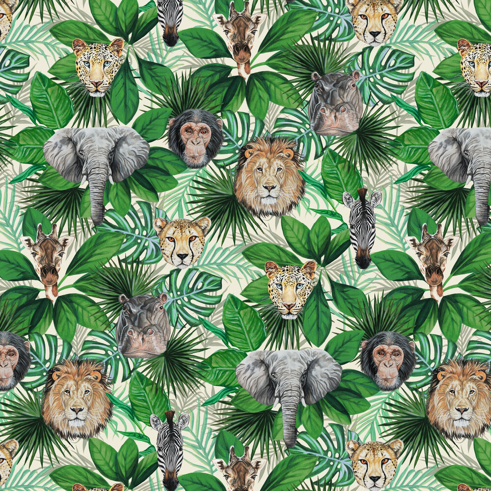 Geoffrey & Friends Wallpaper - Green - by Graduate Collection