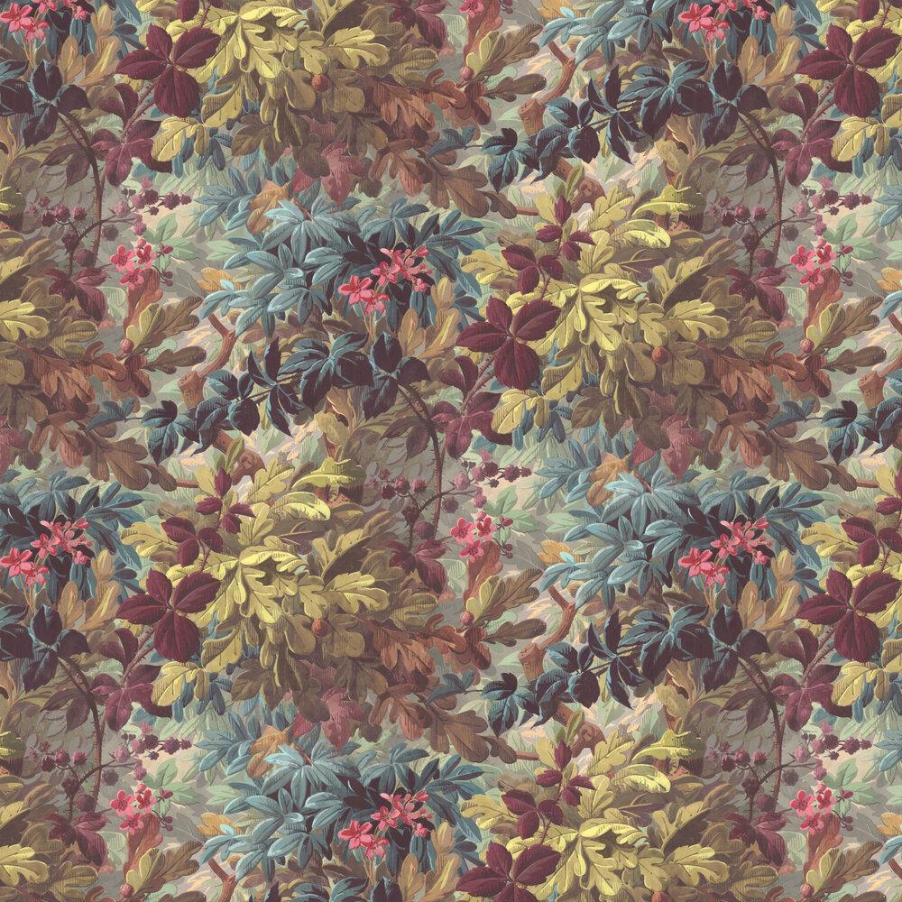 Anglessy Wallpaper - Plum - by Rebel Walls