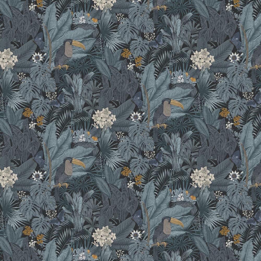 Furada Wallpaper - Teal - by Rebel Walls