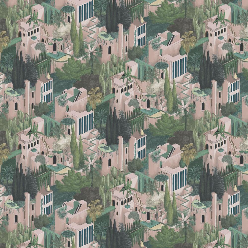 Toledo Wallpaper - Lemonade - by Rebel Walls