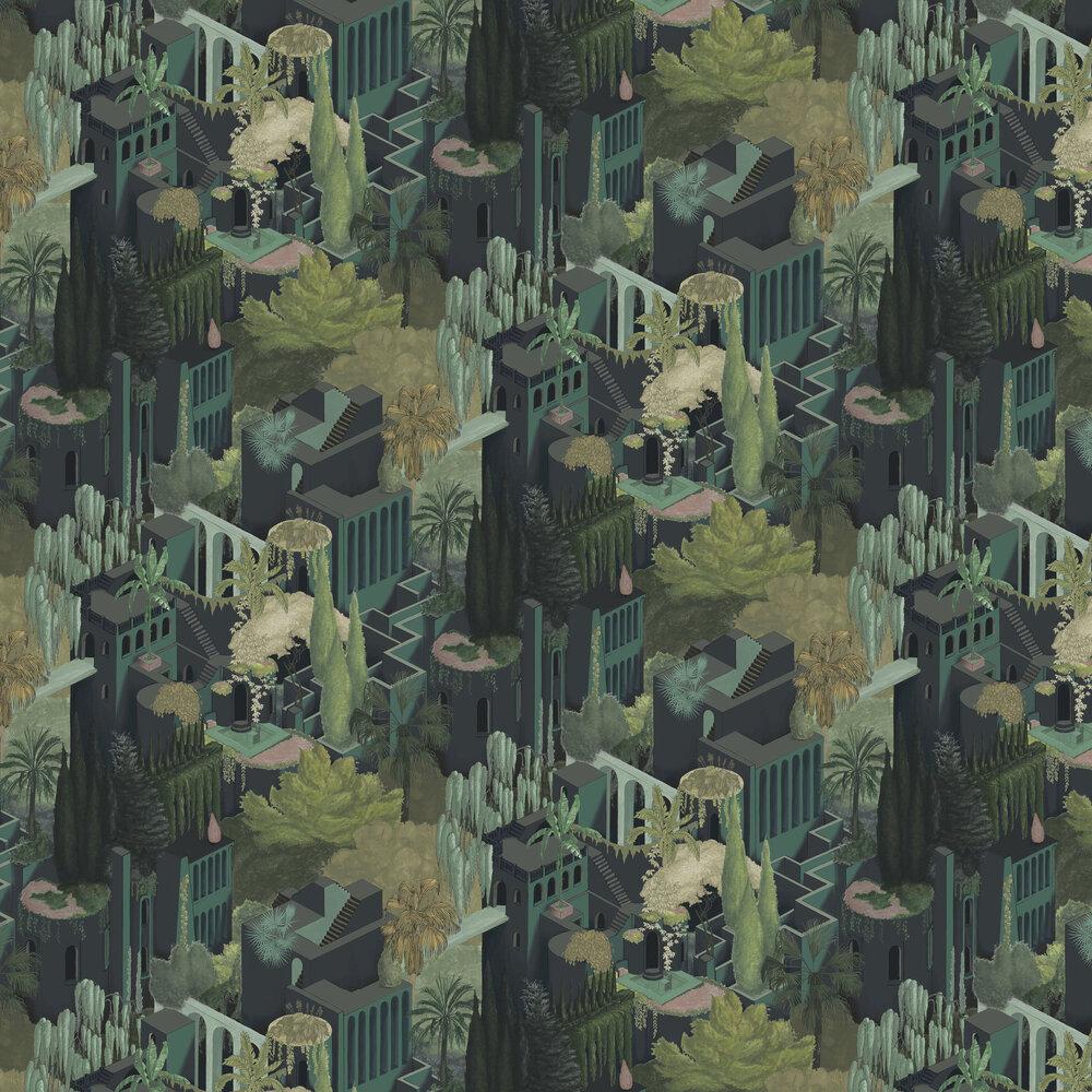 Toledo Wallpaper - Juniper - by Rebel Walls