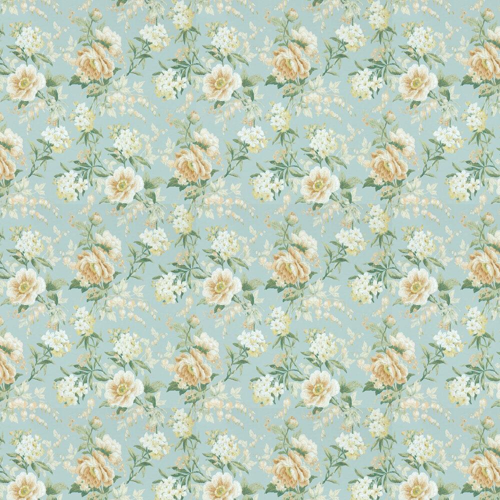 Olivia Wallpaper - Sky Mist / Tan - by Sanderson