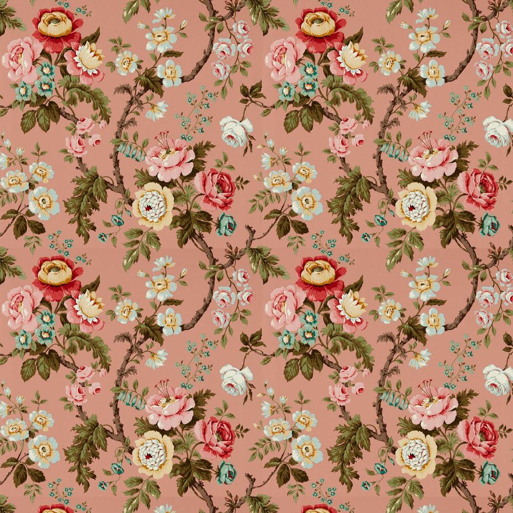 Hykenham Wallpaper - French Rose - by Sanderson