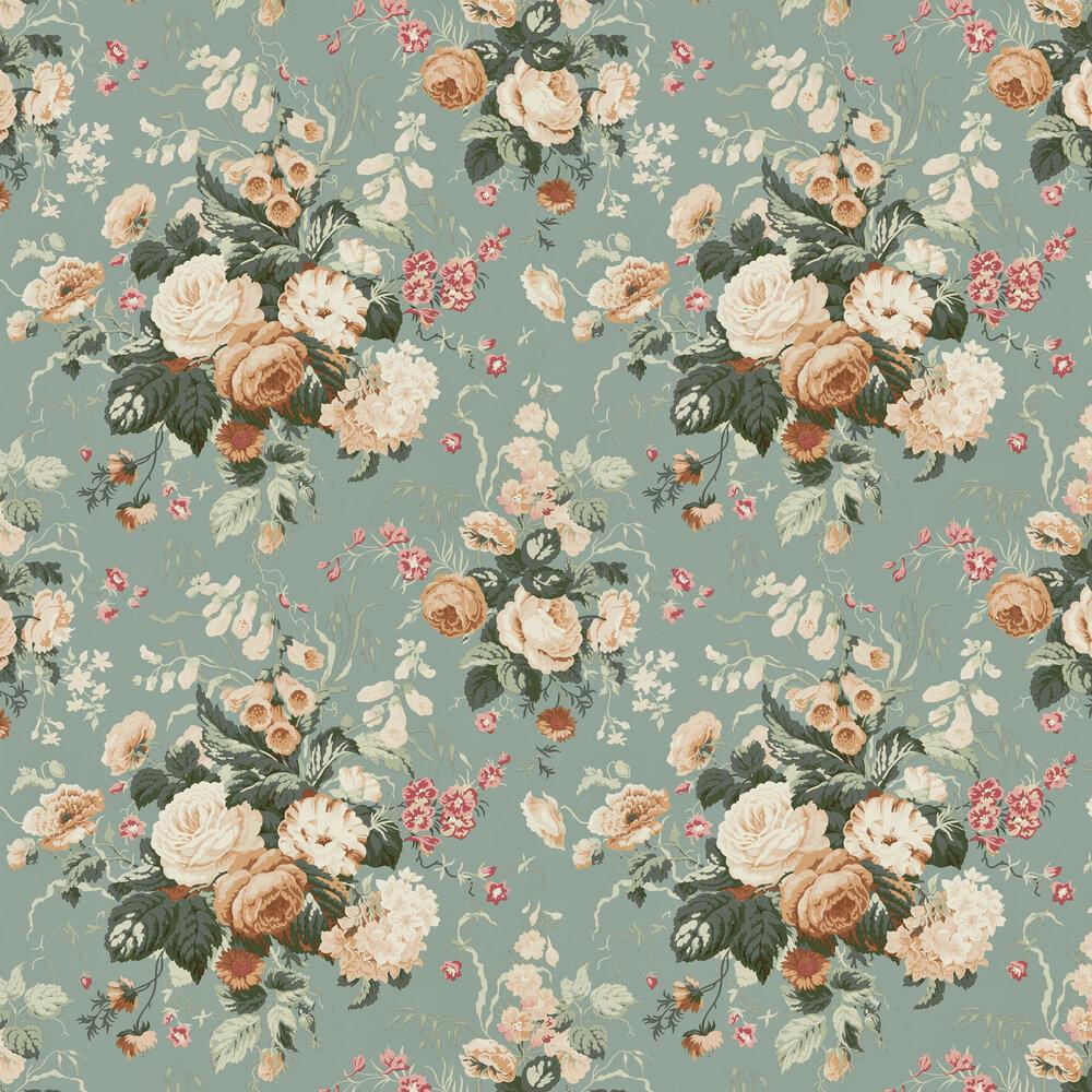 Stapleton Park Wallpaper - Sage / Honey - by Sanderson
