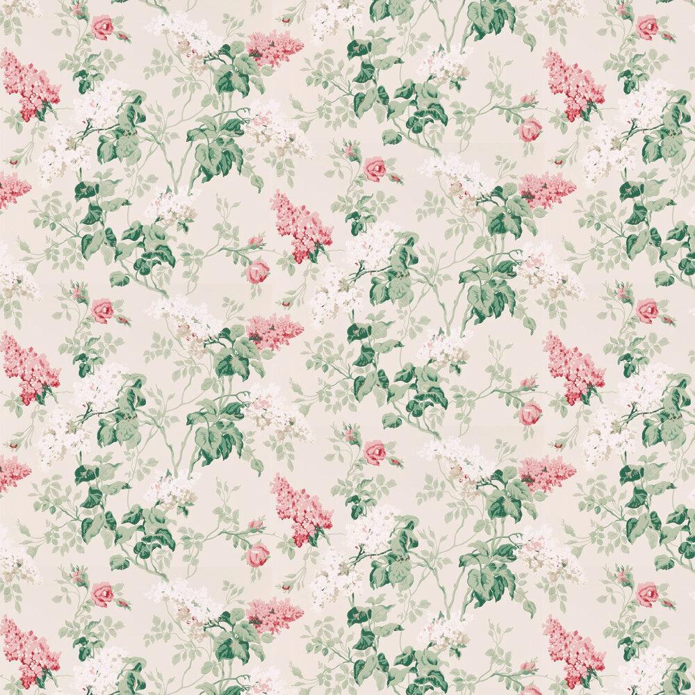 Sommerville Wallpaper - Blush / Grey Birch - by Sanderson