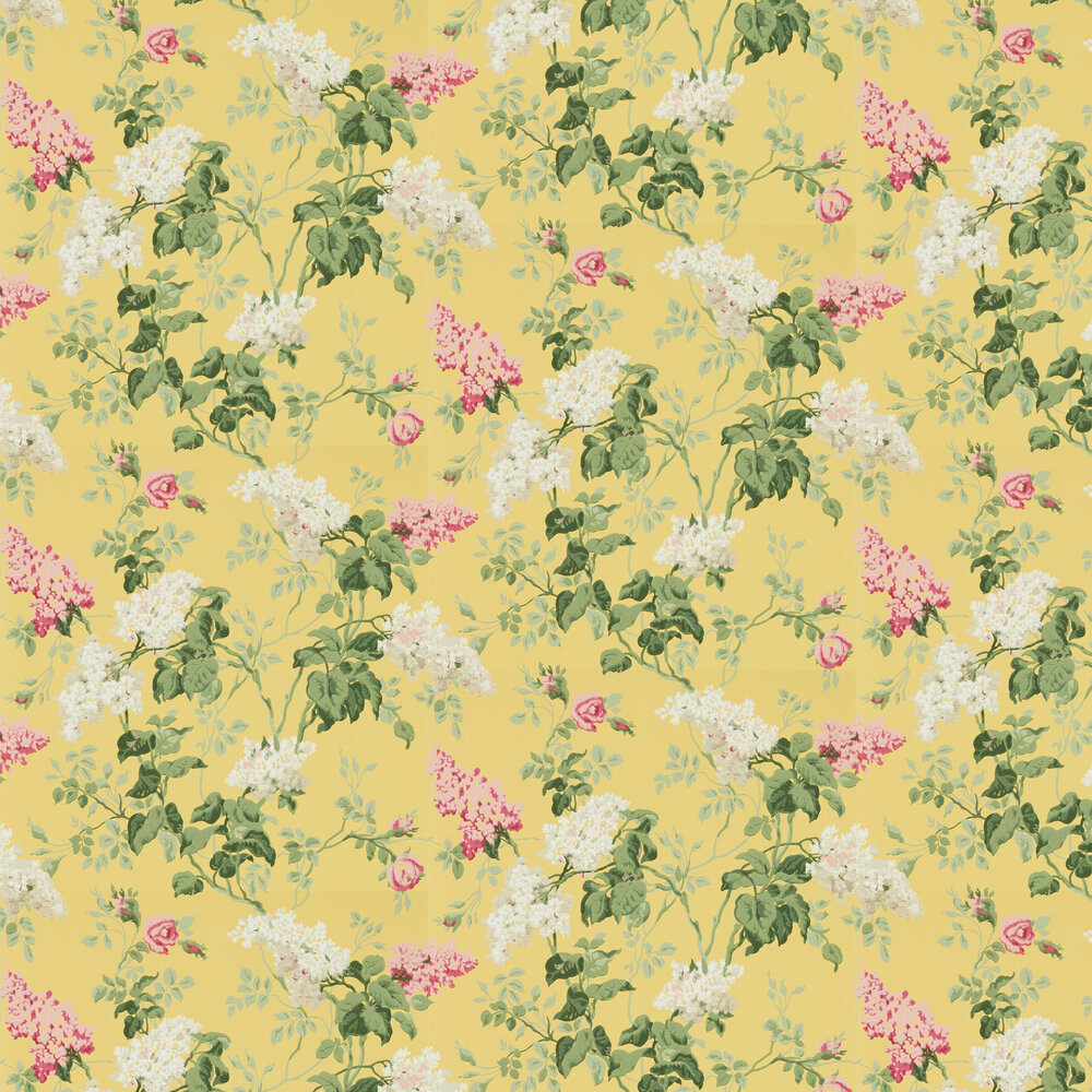 Sommerville Wallpaper - Carmen / Daffodil - by Sanderson