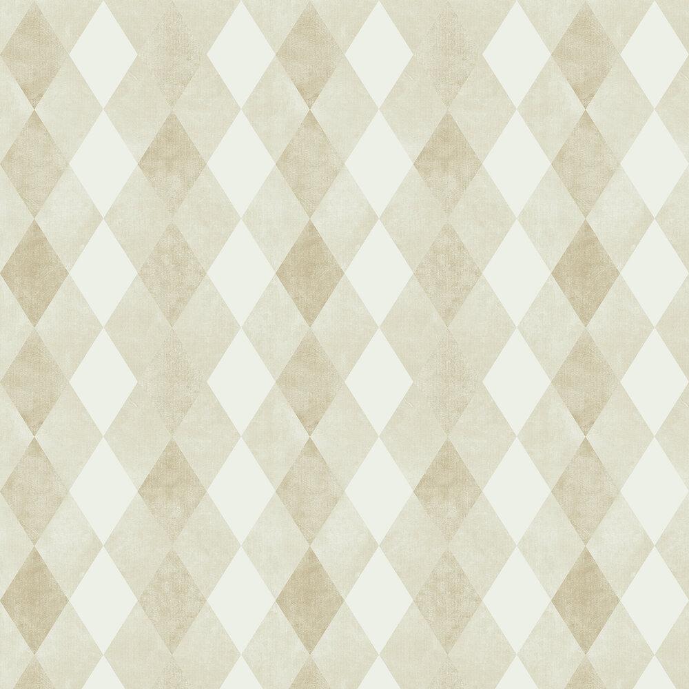 Harlequin Wallpaper - Light Gold - by SketchTwenty 3