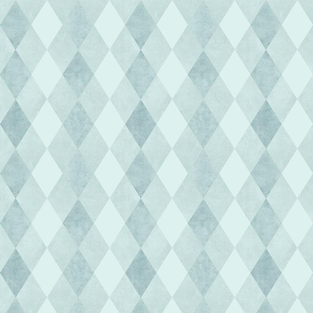 Harlequin Wallpaper - Light Teal - by SketchTwenty 3