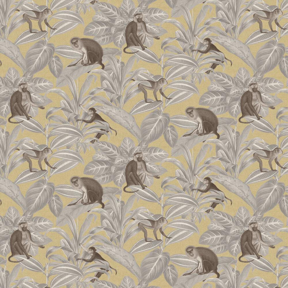 Indian Monkey Wallpaper - Emperor Yellow - by SketchTwenty 3