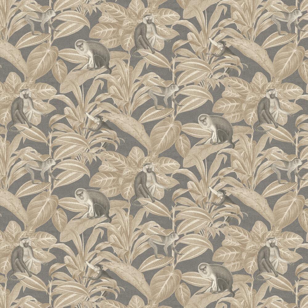 Indian Monkey Wallpaper - Truffle - by SketchTwenty 3