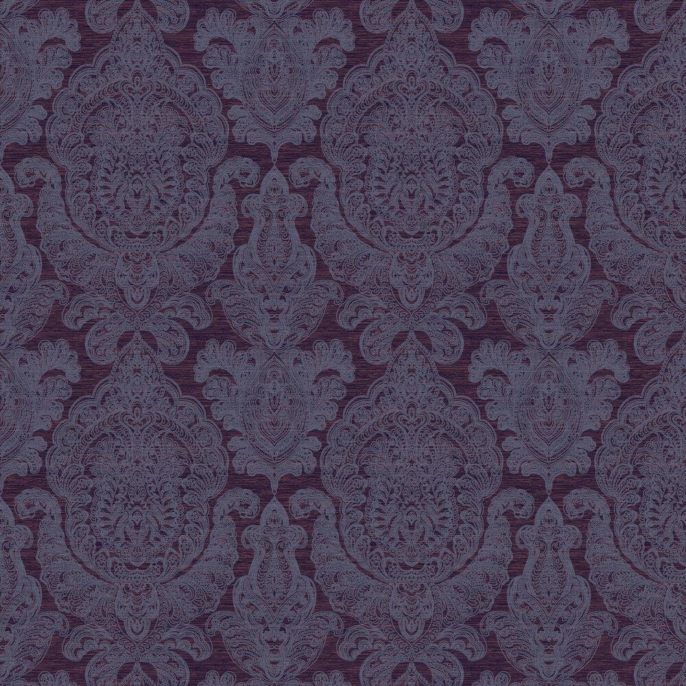 Raffles Wallpaper - Burgundy - by SketchTwenty 3