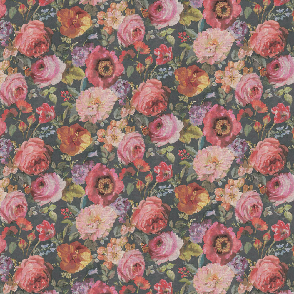 Barbara Floral Wallpaper - Multi-coloured - by Albany