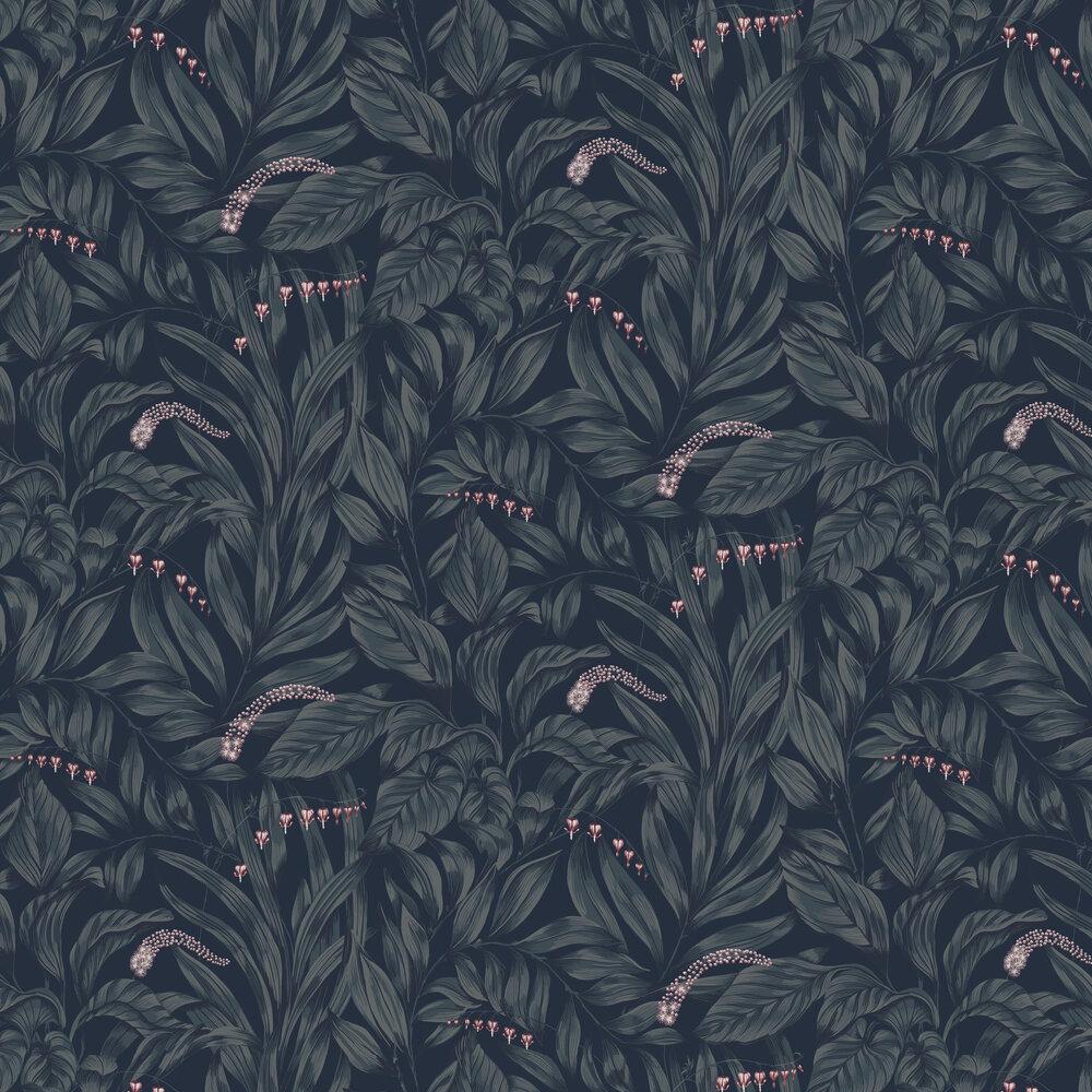 Elin Wallpaper - Midnight Blue - by Sandberg