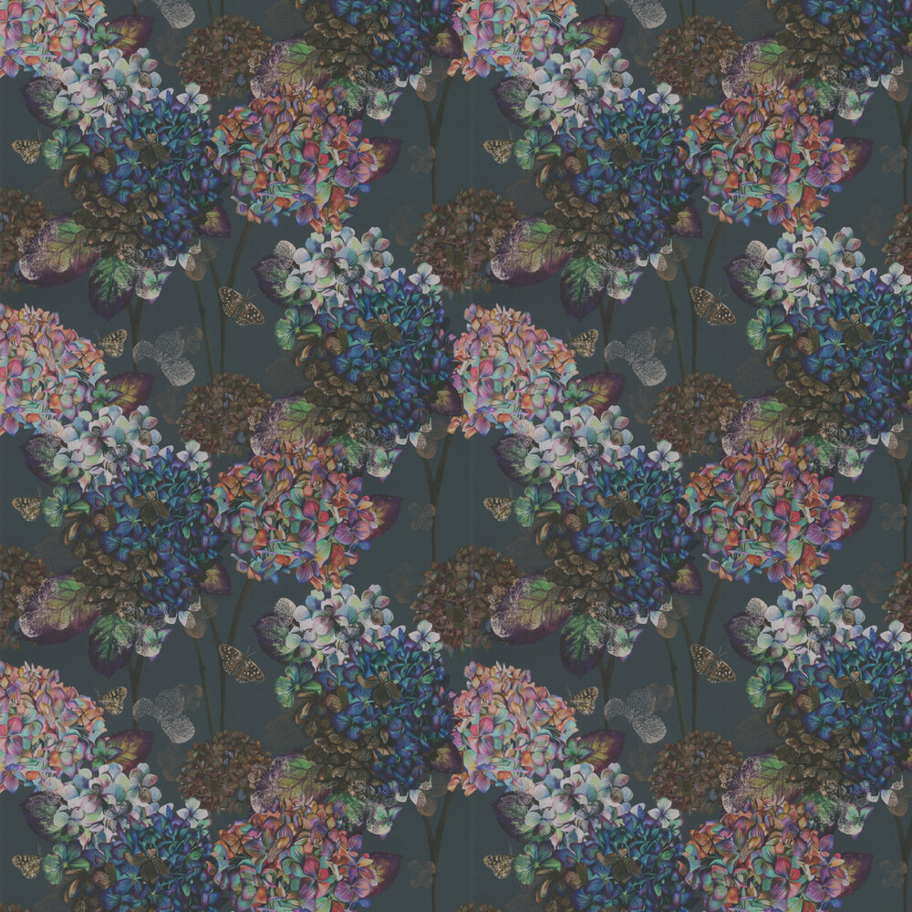 Autumn Hydrangea Wallpaper - Storm - by Isabelle Boxall