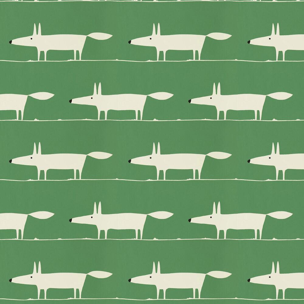 Mr Fox Wallpaper - Mint Leaf - by Scion