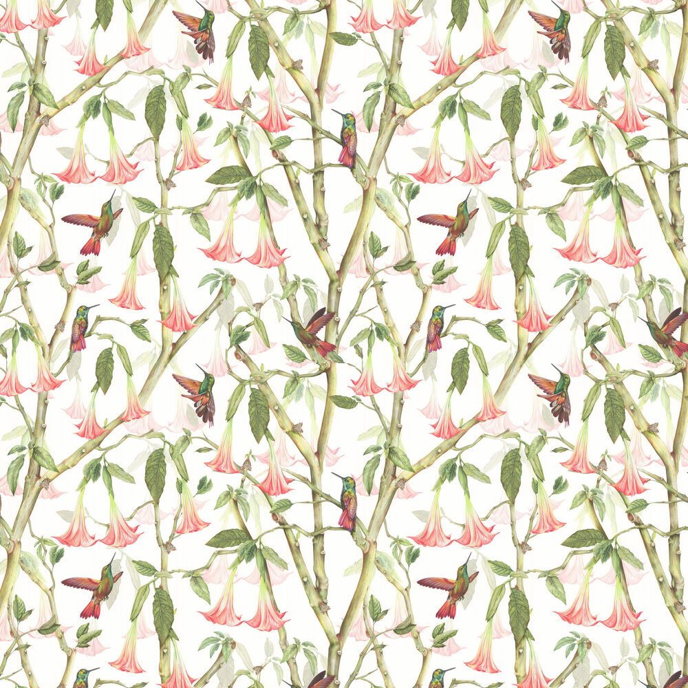 Angel Trumpets Wallpaper - Linen - by Isabelle Boxall