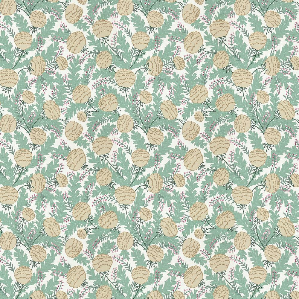 Cecilia Wallpaper - Sage/Buttercream - by Scion