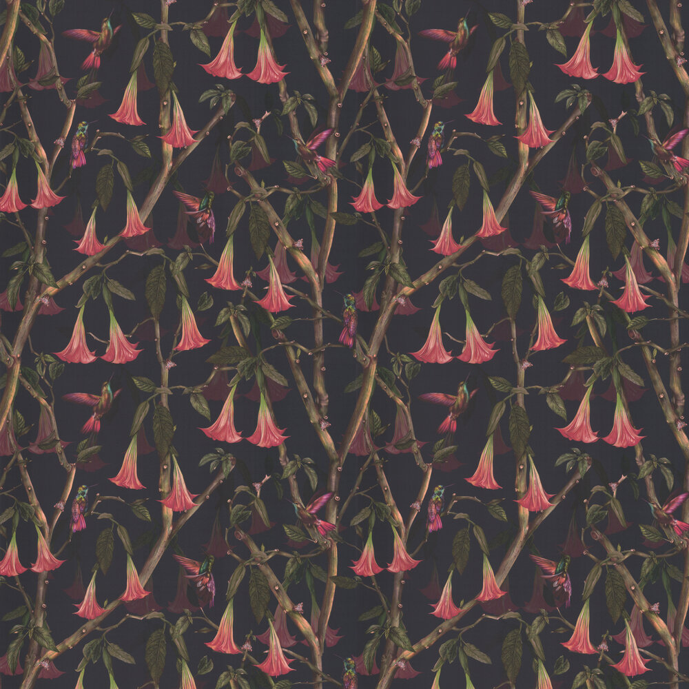 Angel Trumpets Wallpaper - Midnight - by Isabelle Boxall