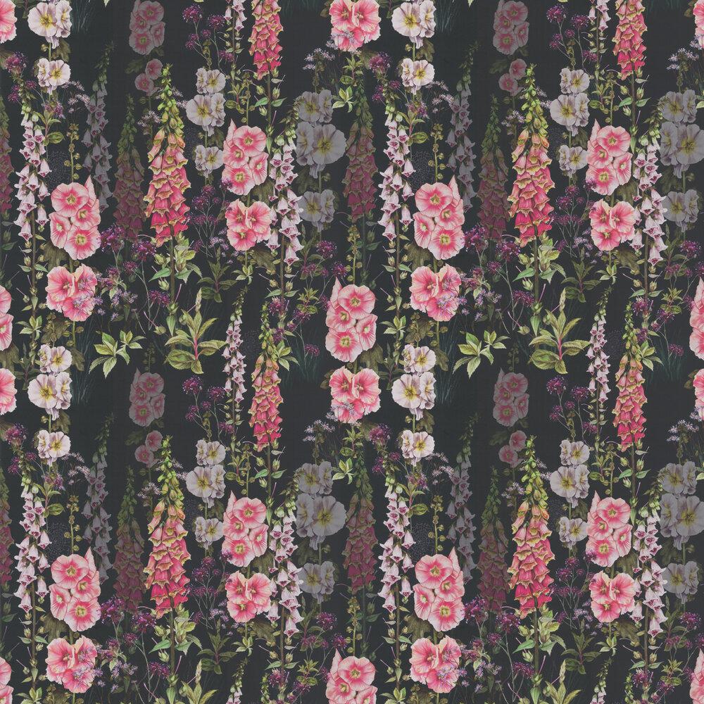 Foxglove Garden Wallpaper - Indigo - by Isabelle Boxall