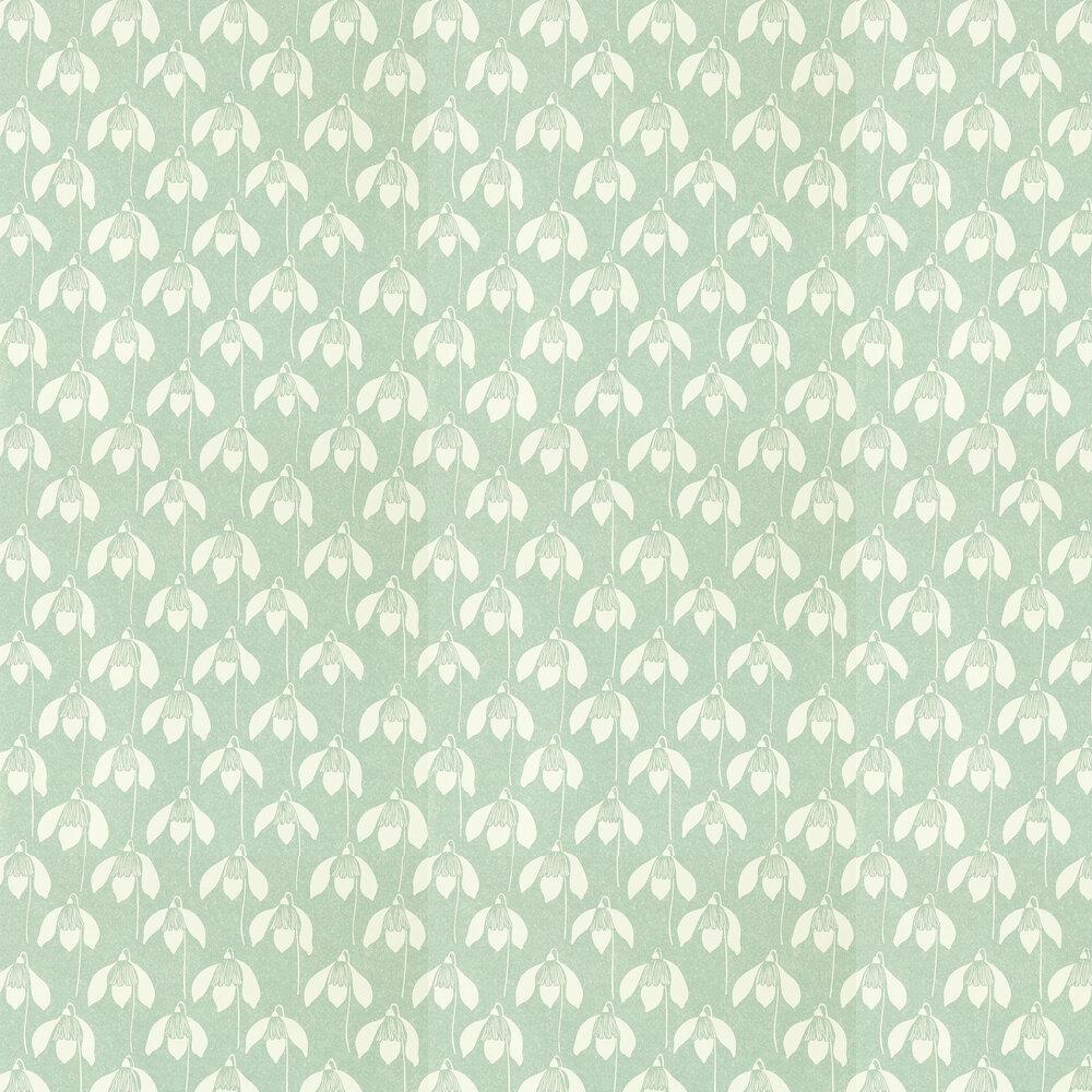 Snowdrop Wallpaper - Sage - by Scion