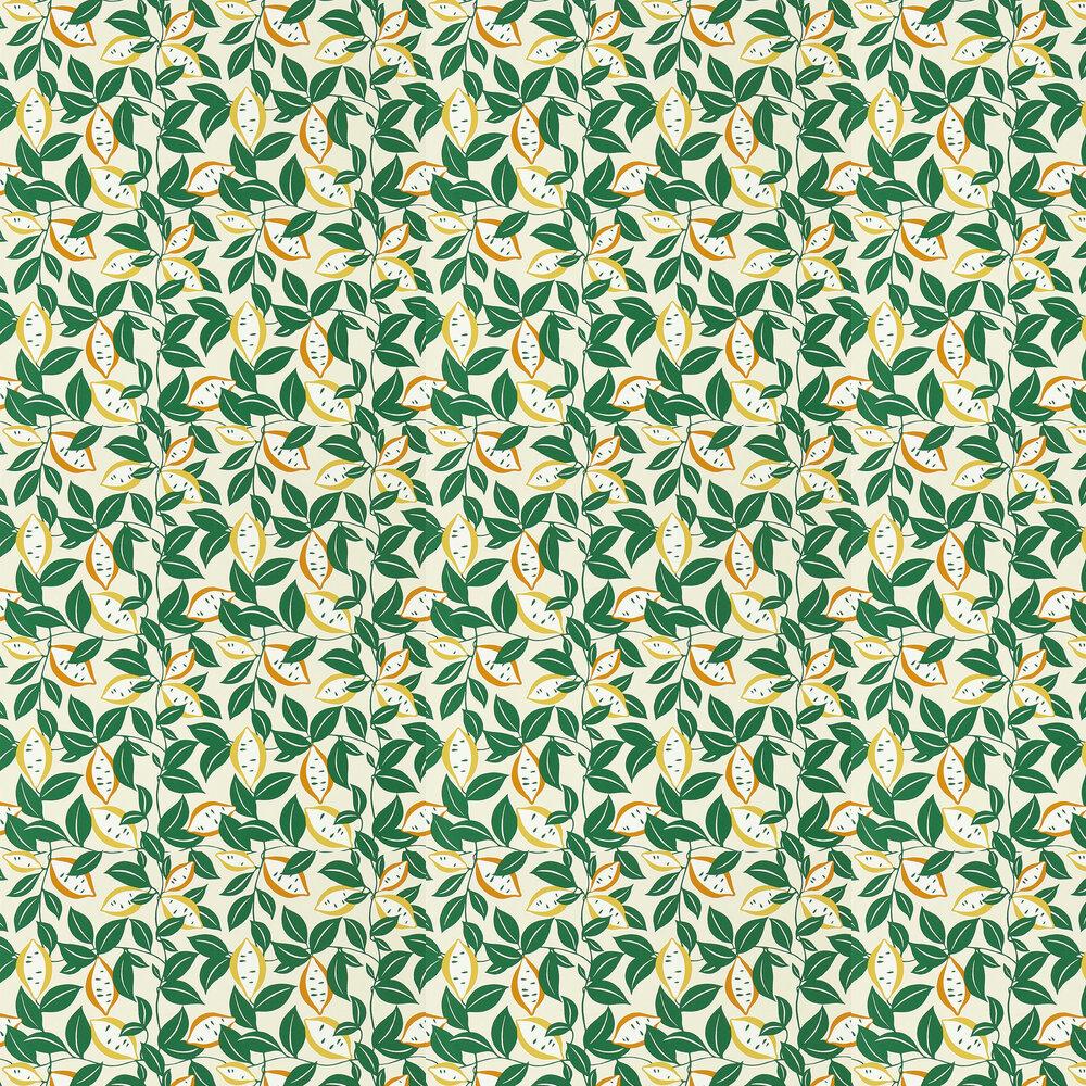 St Clements Wallpaper - Lemon/Tangerine - by Scion