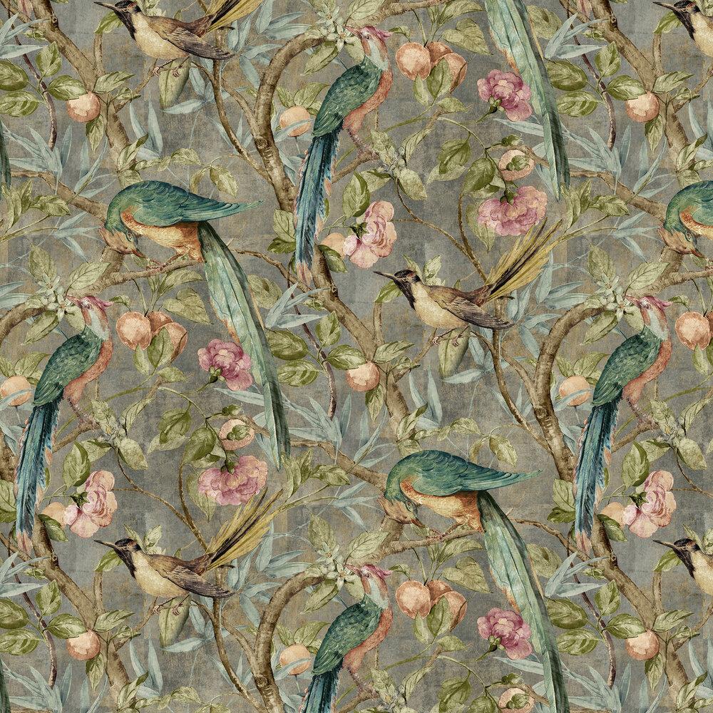 Orangerie Wallpaper - Pewter - by Sidney Paul & Co